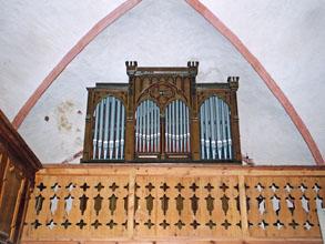 Die Orgel vor dem Ausbau 2000